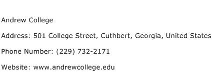 Andrew College Address Contact Number
