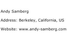 Andy Samberg Address Contact Number