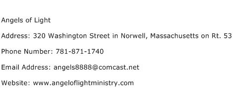 Angels of Light Address Contact Number