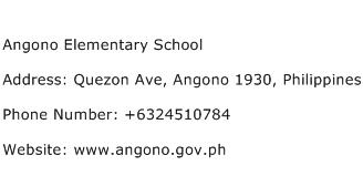 Angono Elementary School Address Contact Number