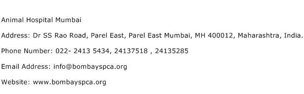 Animal Hospital Mumbai Address Contact Number