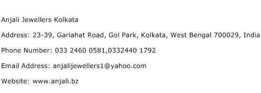 Anjali Jewellers Kolkata Address Contact Number
