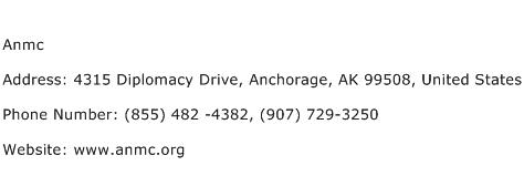 Anmc Address Contact Number
