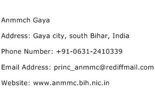Anmmch Gaya Address Contact Number
