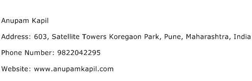Anupam Kapil Address Contact Number