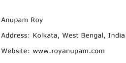 Anupam Roy Address Contact Number