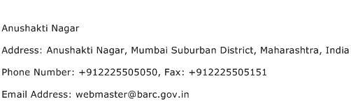 Anushakti Nagar Address Contact Number