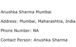 Anushka Sharma Mumbai Address Contact Number