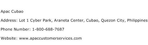 Apac Cubao Address Contact Number