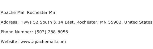 Apache Mall Rochester Mn Address Contact Number