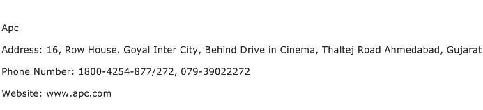 Apc Address Contact Number