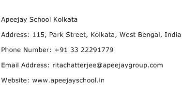Apeejay School Kolkata Address Contact Number