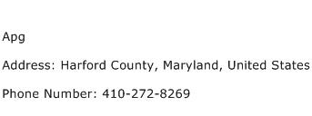 Apg Address Contact Number