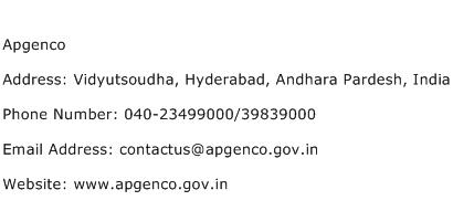 Apgenco Address Contact Number
