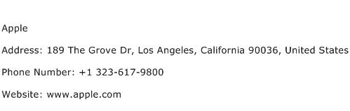 Apple Address Contact Number