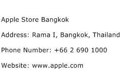 Apple Store Bangkok Address Contact Number