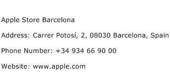 Apple Store Barcelona Address Contact Number