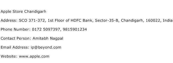 Apple Store Chandigarh Address Contact Number