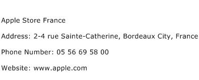 Apple Store France Address Contact Number