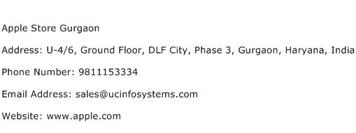 Apple Store Gurgaon Address Contact Number