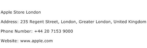 Apple Store London Address Contact Number