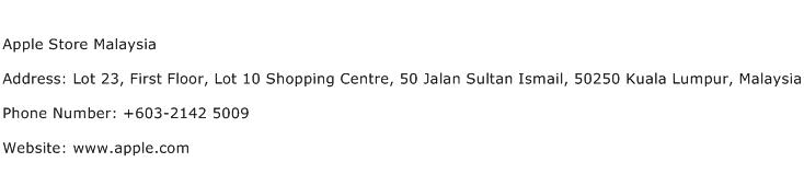 Apple Store Malaysia Address Contact Number