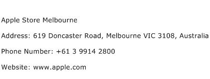 Apple Store Melbourne Address Contact Number