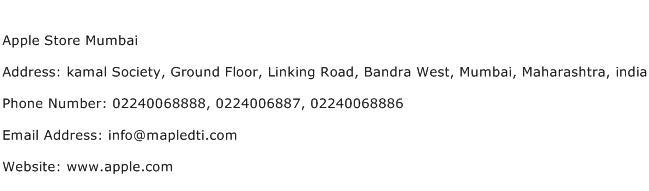 Apple Store Mumbai Address Contact Number