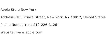 Apple Store New York Address Contact Number