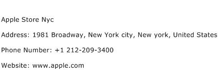 Apple Store Nyc Address Contact Number