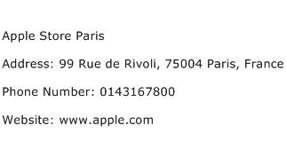 Apple Store Paris Address Contact Number