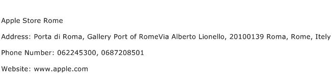 Apple Store Rome Address Contact Number