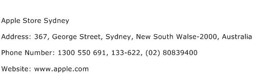Apple Store Sydney Address Contact Number