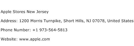 Apple Stores New Jersey Address Contact Number