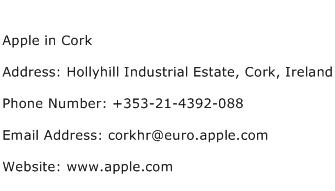 Apple in Cork Address Contact Number