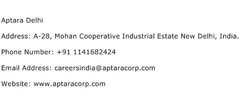 Aptara Delhi Address Contact Number