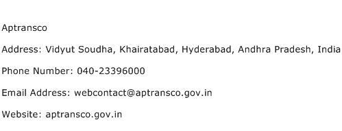 Aptransco Address Contact Number