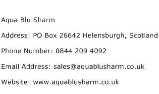 Aqua Blu Sharm Address Contact Number