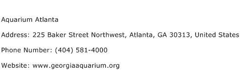 Aquarium Atlanta Address Contact Number