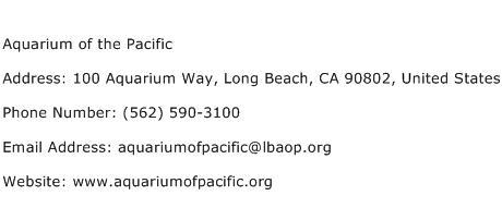 Aquarium of the Pacific Address Contact Number