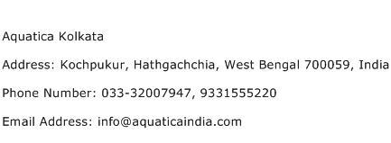 Aquatica Kolkata Address Contact Number