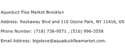 Aqueduct Flea Market Brooklyn Address Contact Number