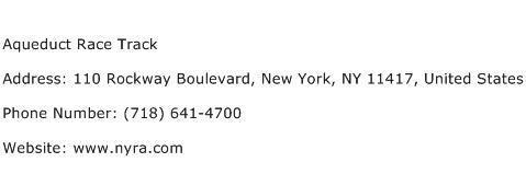 Aqueduct Race Track Address Contact Number