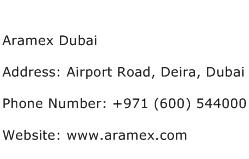 Aramex Dubai Address Contact Number