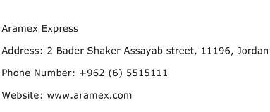Aramex Express Address Contact Number