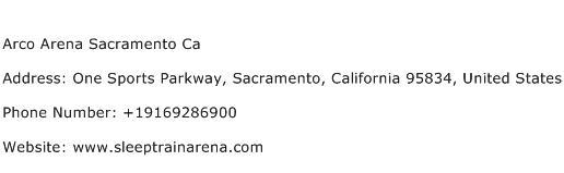Arco Arena Sacramento Ca Address Contact Number