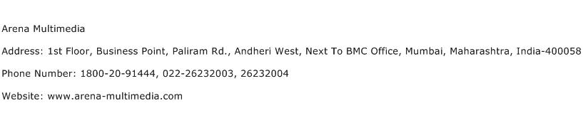 Arena Multimedia Address Contact Number