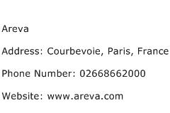 Areva Address Contact Number
