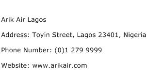 Arik Air Lagos Address Contact Number