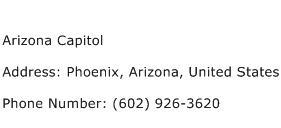 Arizona Capitol Address Contact Number